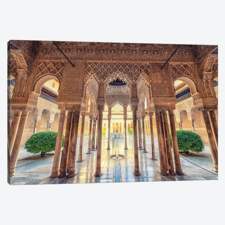 Alhambra Canvas Print #EMN145} by Manjik Pictures Canvas Art