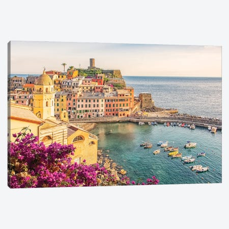 Vernazza Canvas Print #EMN152} by Manjik Pictures Canvas Wall Art