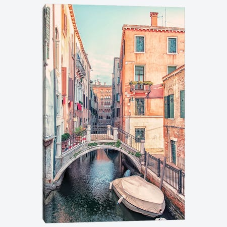 Venice Canal Canvas Print #EMN164} by Manjik Pictures Canvas Wall Art