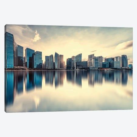 Corporate Buildings Canvas Print #EMN168} by Manjik Pictures Canvas Art Print