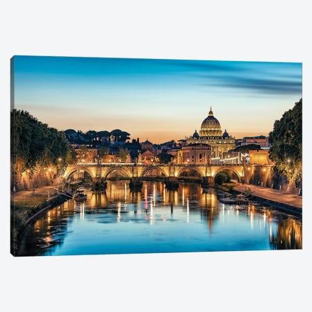 Blue Rome Canvas Print #EMN16} by Manjik Pictures Canvas Art