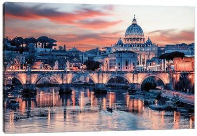 Pink Rome Canvas Art Print