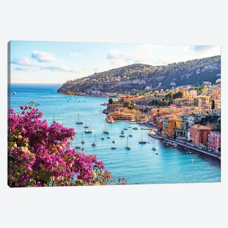 French Riviera Canvas Print #EMN185} by Manjik Pictures Canvas Artwork