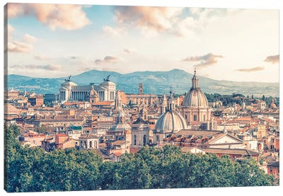 Rome In The Evening Canvas Art Print