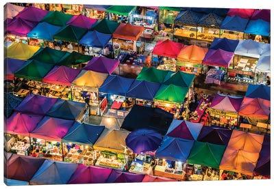 Rod Fai Market Canvas Art Print