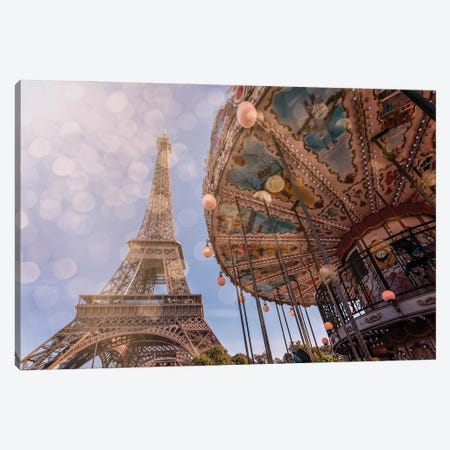 Carousel Canvas Print #EMN19} by Manjik Pictures Art Print
