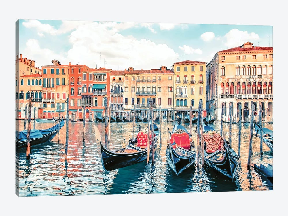 A Journey In Venice by Manjik Pictures 1-piece Canvas Art Print