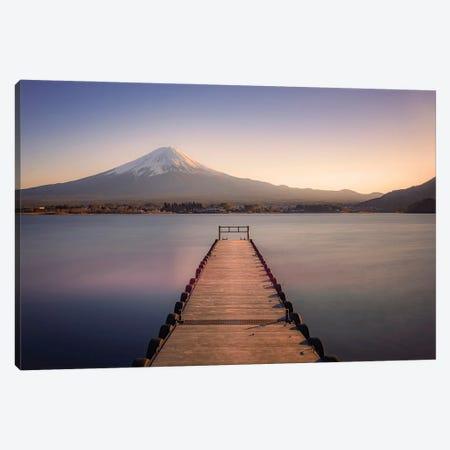 Mount Fuji Sunset Canvas Print #EMN202} by Manjik Pictures Canvas Artwork