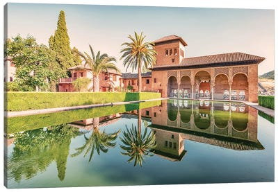 Alhambra Gardens Canvas Art Print
