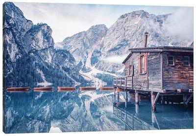 Braies Lake Canvas Art Print