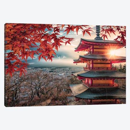 Chureito Pagoda Canvas Print #EMN22} by Manjik Pictures Canvas Artwork