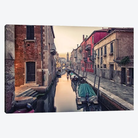Street View In Venice Canvas Print #EMN232} by Manjik Pictures Canvas Art Print