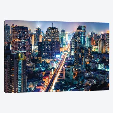 City Light Canvas Print #EMN23} by Manjik Pictures Canvas Art