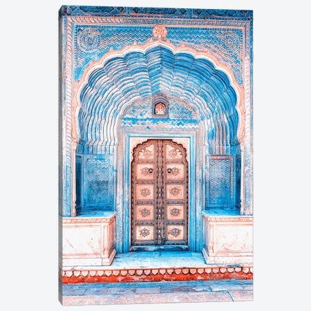 Architecture In Rajasthan Canvas Print #EMN252} by Manjik Pictures Art Print