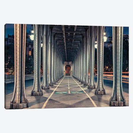 Bir-Hakeim Bridge Canvas Print #EMN262} by Manjik Pictures Canvas Art