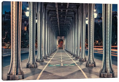Bir-Hakeim Bridge Canvas Art Print