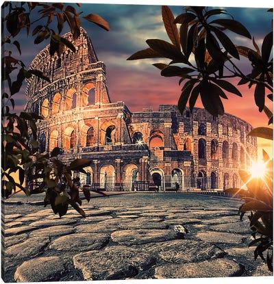 Colosseum Sunrise Canvas Art Print