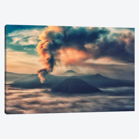Activity In Mount Bromo Canvas Print #EMN2} by Manjik Pictures Canvas Wall Art