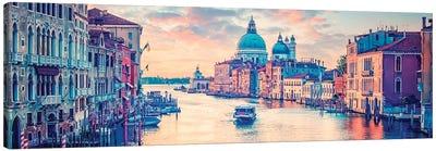 Orange Venice Canvas Art Print