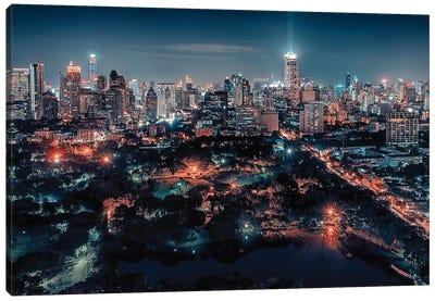 Bangkok City Lights Canvas Art Print