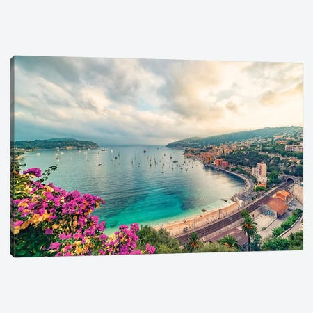 Coastline In The South Of France Canvas Print #EMN309} by Manjik Pictures Canvas Art Print