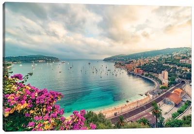 Coastline In The South Of France Canvas Art Print