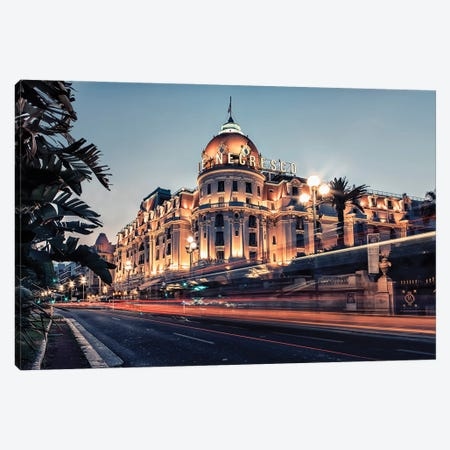 The City Of Nice Canvas Print #EMN312} by Manjik Pictures Canvas Art