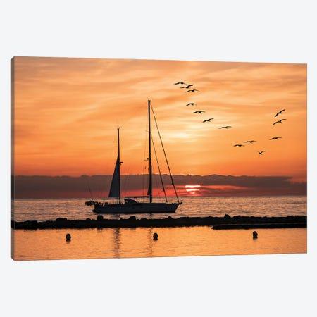 Sunrise Canvas Print #EMN327} by Manjik Pictures Canvas Art