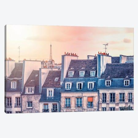 Paris Roofs Canvas Print #EMN333} by Manjik Pictures Canvas Artwork