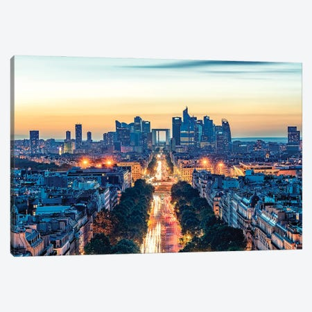 Evening In Paris Canvas Print #EMN34} by Manjik Pictures Canvas Wall Art