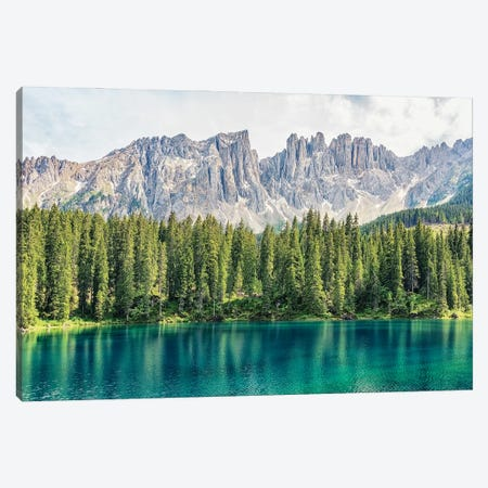 Turquoise Lake Canvas Print #EMN354} by Manjik Pictures Art Print