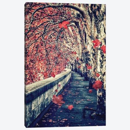 Falling Leaves Canvas Print #EMN35} by Manjik Pictures Canvas Artwork