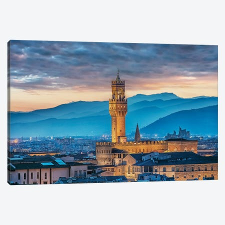 Florence City Canvas Print #EMN380} by Manjik Pictures Canvas Art Print