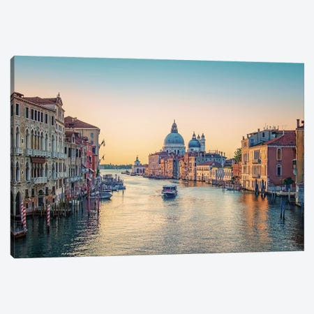 Venice Morning Canvas Print #EMN386} by Manjik Pictures Canvas Art