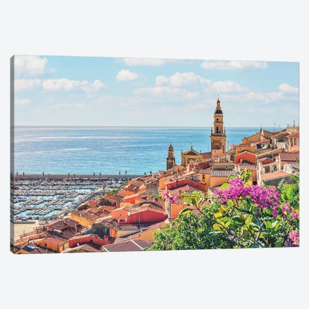 Menton In Summer Canvas Print #EMN388} by Manjik Pictures Canvas Print