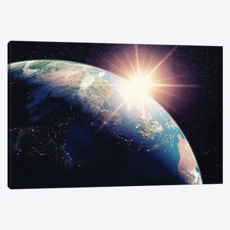 The Earth Canvas Print #EMN404} by Manjik Pictures Canvas Print