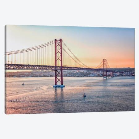 25 De Abril Bridge Canvas Print #EMN414} by Manjik Pictures Canvas Art