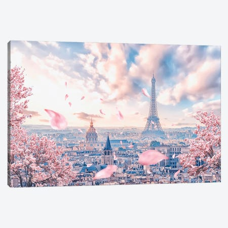 French Sakura Canvas Print #EMN41} by Manjik Pictures Canvas Wall Art