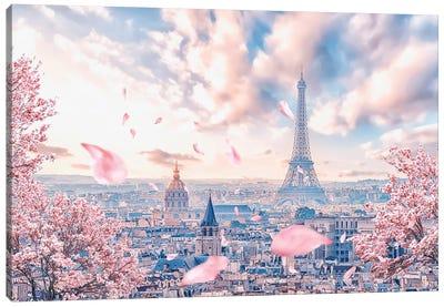 French Sakura Canvas Art Print