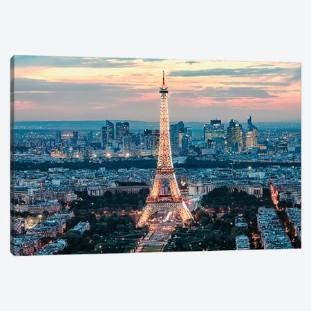 From Paris With Love Canvas Print #EMN42} by Manjik Pictures Canvas Wall Art