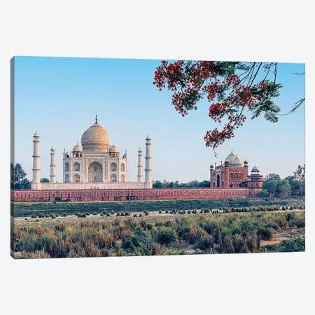 Taj Mahal Backside Canvas Print #EMN441} by Manjik Pictures Canvas Wall Art