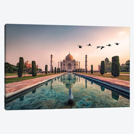 Good Morning Agra Canvas Print #EMN46} by Manjik Pictures Art Print