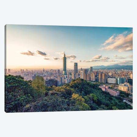 Taipei Sunset Canvas Print #EMN485} by Manjik Pictures Canvas Art Print