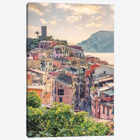 Vernazza Sunset Canvas Print #EMN504} by Manjik Pictures Canvas Artwork