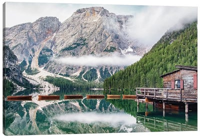 Early Morning In The Dolomites Canvas Art Print