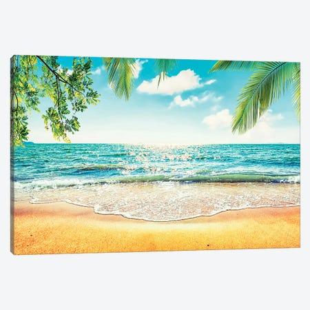 Tropical Beach Canvas Print #EMN535} by Manjik Pictures Canvas Art Print