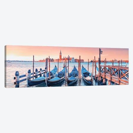 Venice City Sunrise Canvas Print #EMN552} by Manjik Pictures Canvas Wall Art