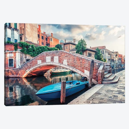 The Beauty Of Venice Canvas Print #EMN555} by Manjik Pictures Canvas Art Print