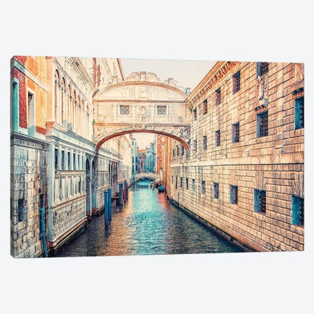 Ponte De I Sospiri Canvas Print #EMN560} by Manjik Pictures Canvas Print