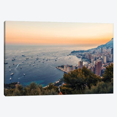 Monaco In The Summer Canvas Print #EMN561} by Manjik Pictures Canvas Art Print